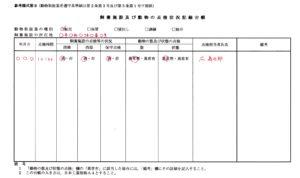 飼養施設及び動物の点検状況記録台帳